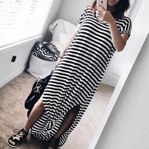 clmayfae Dresses & Skirts - Striped Oversized Maxi Dress