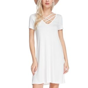 "Bellino Clothing Dresses & Skirts - 🆕🎉Bellino ""CrissCross A-Line Dress"""