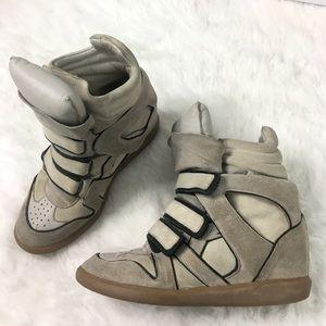 Isabel Marant Shoes - Isabel Marant Basket Sneaker Wedge