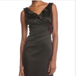 JAX Black Spliced Ruffle Dress Size 6