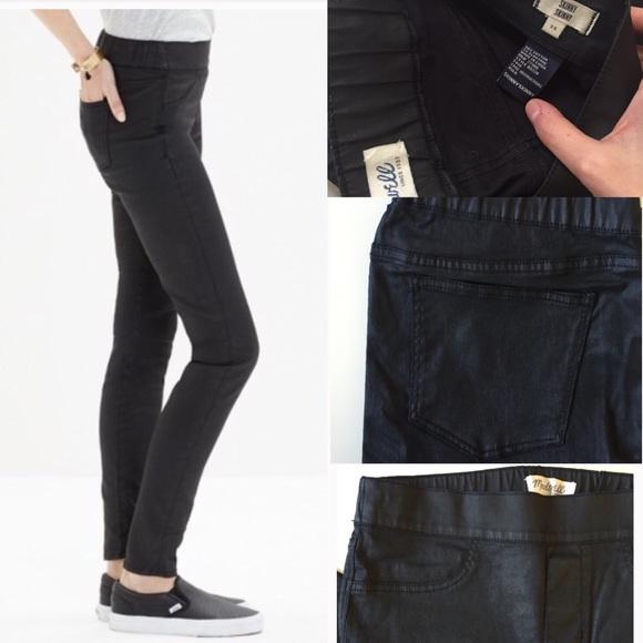 3ad596d929173 Madewell Jeans | Black Coated Skinny Skinny Leggings Sz 26 | Poshmark