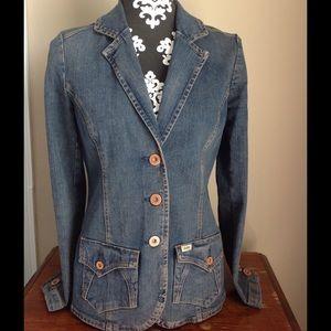 Levi Strauss denim jacket blue jean coat blazer sm