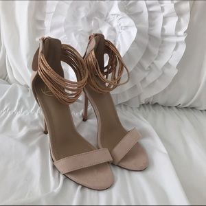 Misguided ankle strap heels