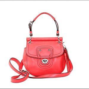 Coach Handbags - Coach Mini Leather Willis Crossbody -Bright Salmon