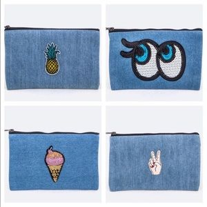 October Love Handbags - Denim Bags With Patches
