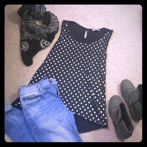 ISSI Tops - Navy/Silver Dot Tank