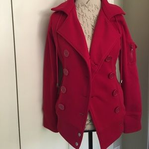 Ambiance Apparel Jackets & Blazers - Ambiance Apparel Red Hooded Jacket