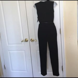 f34d5e9b03cc Worthington Pants - Worthington Sleeveless Belted jumpsuit Petite blk
