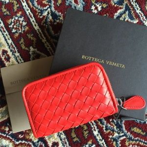 Bottega Veneta Red Coin Purse