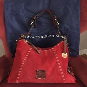 SALE!!!DOONEY & BOURKE red suede purse