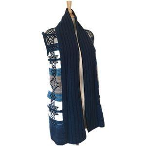 BCBGMaxAzria Sweaters - BCBGMAXAZRIA Boho Tribal Aztec Knit Vest