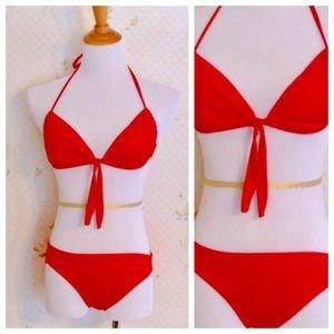 1970s Vintage Red Bikini, Deadstock, Made in Italy