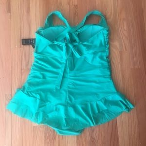 d818eb5f478ee torrid Swim - Torrid - Plus Size Green One Piece Swimsuit Size 3