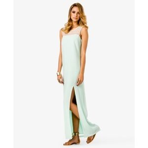 NWT F21 Full-length Gown with Lace