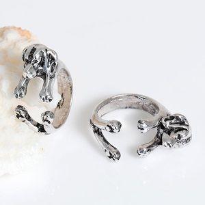 Dog Ring Adjustable Labrador Retriever Silver RingBoutique for sale