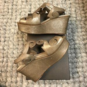 Prada Shoes - Prada Filigree Tan Wedge 🎀