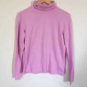 Lacoste Tops - Pink Lacoste Turtleneck