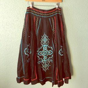 100% Linen Full beaded skirt