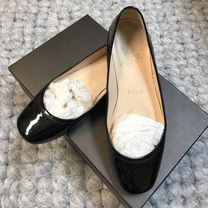 Christian Louboutin Shoes - Christian Louboutin Patent Leather Black Flats 💋