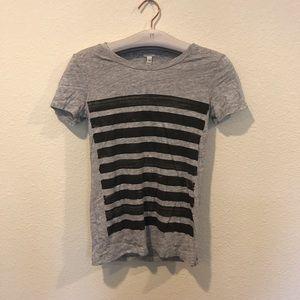 J. Crew Tops - J. Crew striped gray tee shirt