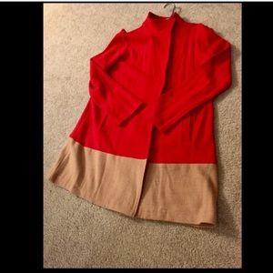 Mercer & Madison  Sweaters - Mercer & Madison Colorblock Coat/ Sweater Jacket
