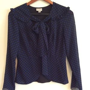 ALICE by Temperley Tops - Polka Dot Crinkle Tie Blouse Target Collaboration