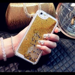 Accessories - iPhone 7/6/6s Gold Waterfall glitter case