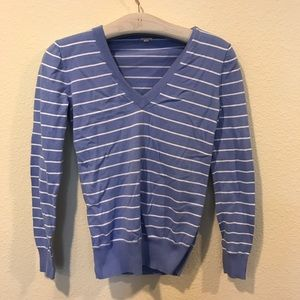 J. Crew Sweaters - J. Crew striped blue and white sweater
