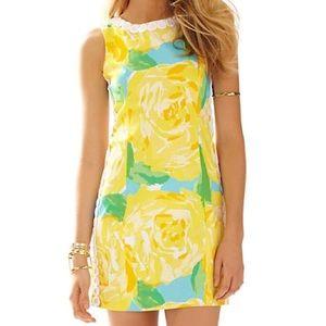 Lilly Pulitzer Yellow Mila Lace Shift Dress size 0