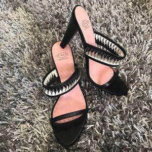 Joan & David Shoes - Circa Joan & David Sandal Heels Black Pink 9.5