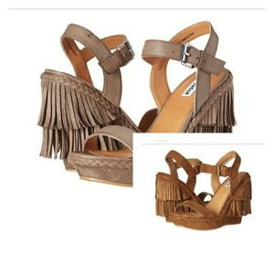 Not Rated Shoes - Not Rated Roaring Ruby Fringe Wedge Sandals