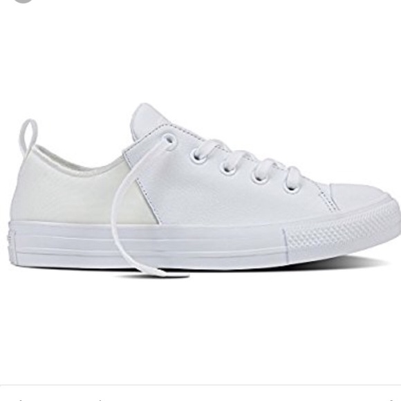 Converse Abbey Monochrome White Leather Chucks