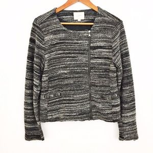 LOFT Jackets & Blazers - LOFT striped moto jacket