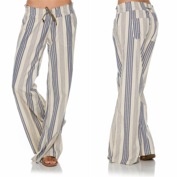 55a88aac8a9 🆕Roxy Women s Oceanside Palazzo Beach Pants