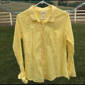 J. Crew Tops - Yellow Gingham Button down