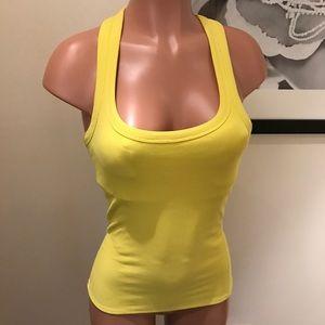 ALO Yoga Tops - Yellow ribbed tank