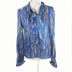 Rachel Zoe Tops - Rachel Zoe 100% Silk Tiger Stripe Blouse