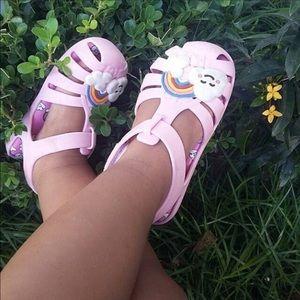 Zaxy Happy Baby Pink Rainbow Sandal