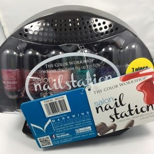 Nail polish set with dryer
