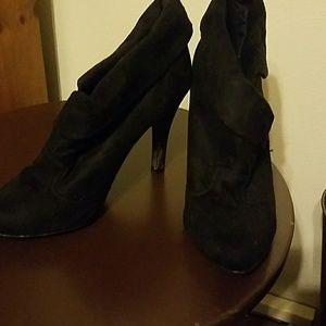 Charlotte Russe Black Boot Heels