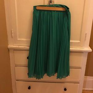 Asos Green Midi Skirt