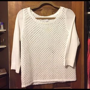 New York & Company Cropped Sleeve Sweater
