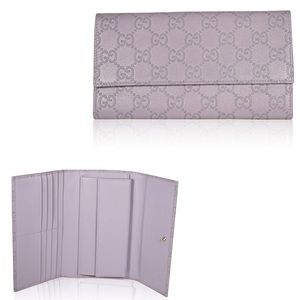 Gucci Handbags - [Gucci] Lilac Leather Continental Wallet