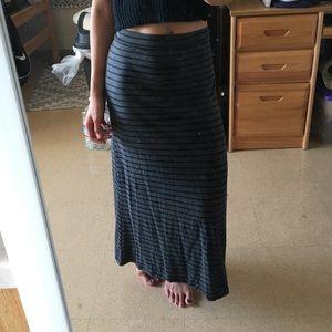 Dresses & Skirts - Black and white striped maxi skirt