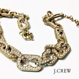 J. Crew Jewelry - J. Crew Pave Crystal Link Necklace