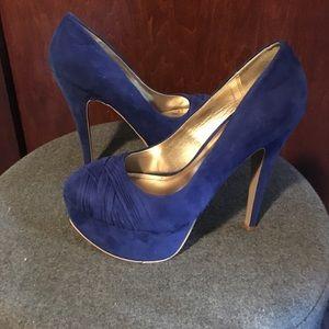 Royal Blue Platform Heels / EUC
