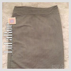 LuLaRoe Dresses & Skirts - NWT LuLaRoe White & Black Cassie Plus-Size Skirt