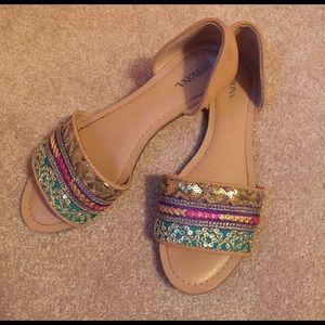 Merona Shoes - Sequin slide sandals