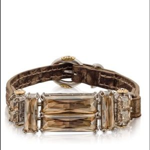 Henri Bendel Jewelry - Henri Bendel Deco Leather Bracelet Silver