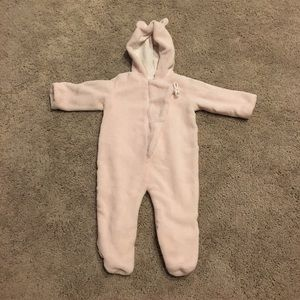 Angel Dear Other - Baby girl pink winter onesie